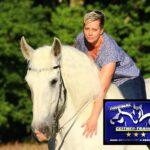 Pferdetraining blau/gelb